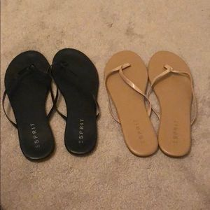 Two pairs of flip flops